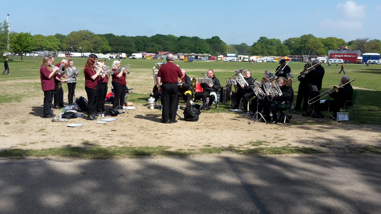 Band playing at Southampton Marathon