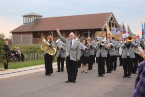 Band performing at National Memorial Gardens, Litchfield