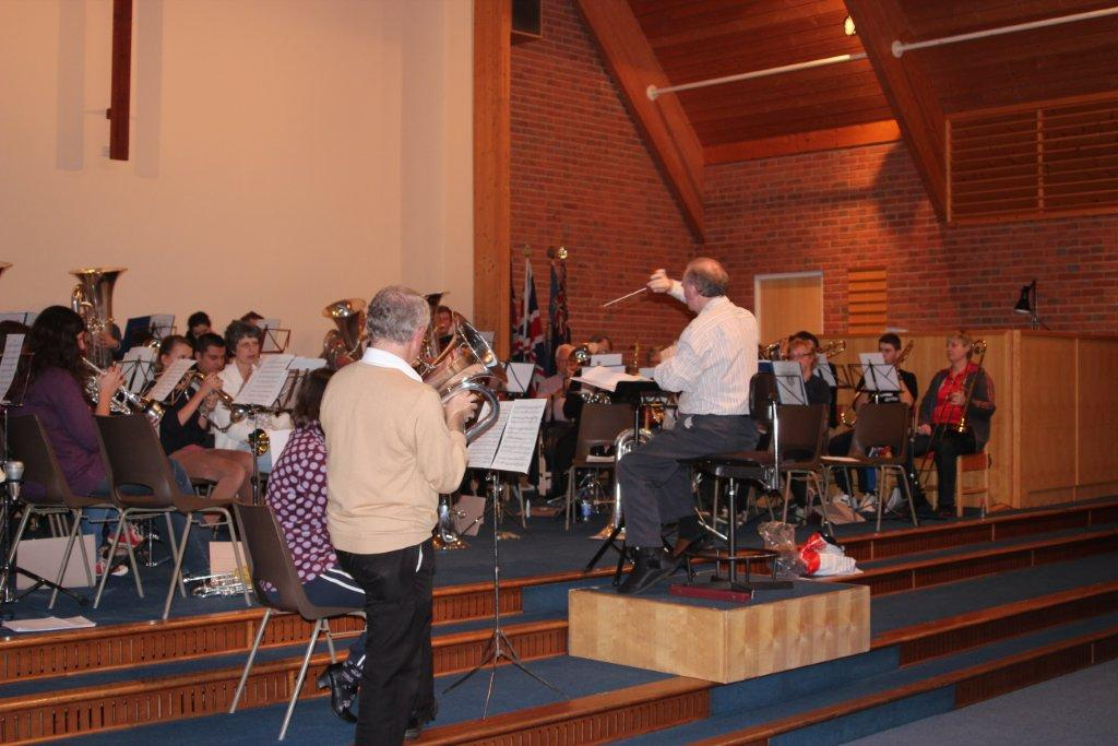 Band Rehearsing for concert