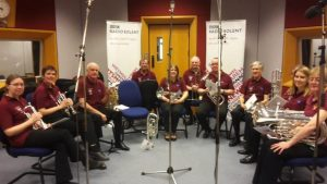 Band in Radio Solent studio