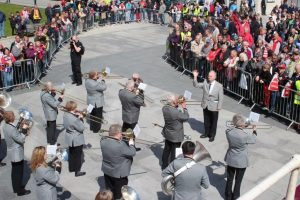 Band playing in Guildhall Square