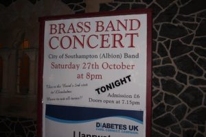 Poster for band concert in Llandudno