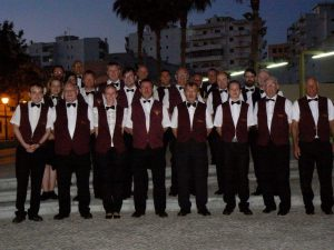The band on tour in Portugal